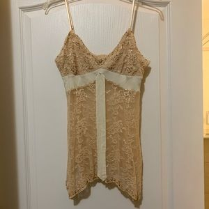 Express sheer beaded camisole size L